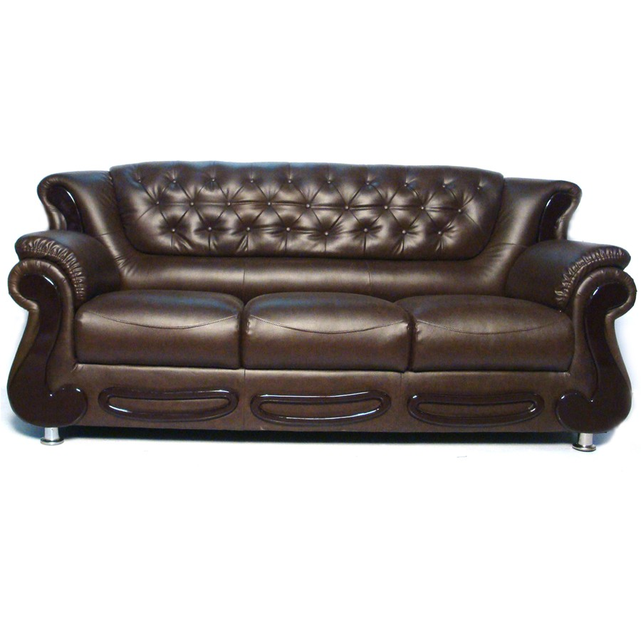 Black Currant Masculine Button Sofa