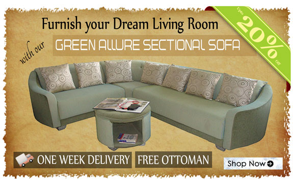 Green Allure Sectional Sofa